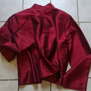 P.K. Thailand Ruby Silk Sheen Jacket NWOT